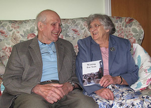 Tom and Rosemary with book